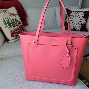 EUC Kate Spade pink laptop tote